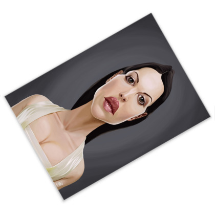 Monica Bellucci Celebrity Caricature Postcard