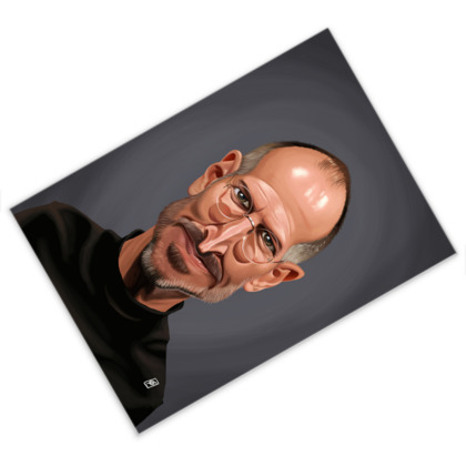 Steve Jobs Celebrity Caricature Postcard