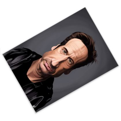 David Duchovny Celebrity Caricature Postcard