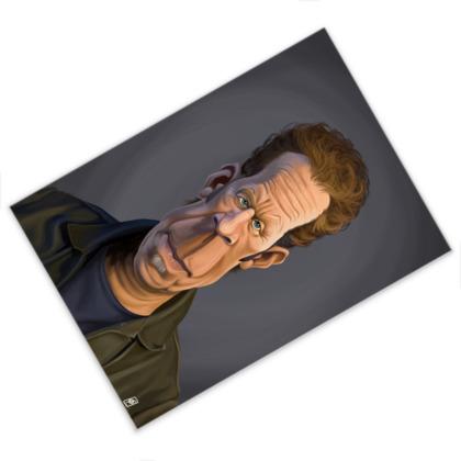 Tom Waits Celebrity Caricature Postcard