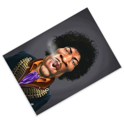 Jimi Hendrix Celebrity Caricature Postcard