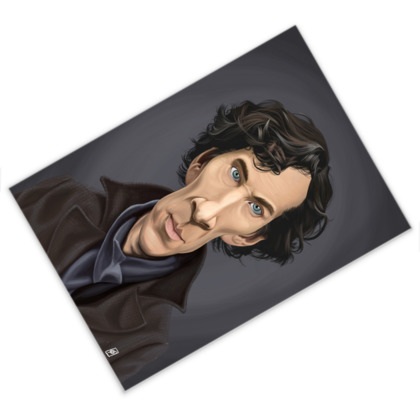 Benedict Cumberbatch Celebrity Caricature Postcard