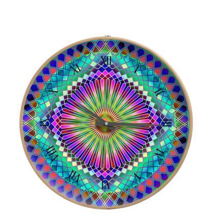 Wall Clocks Sun Mandala