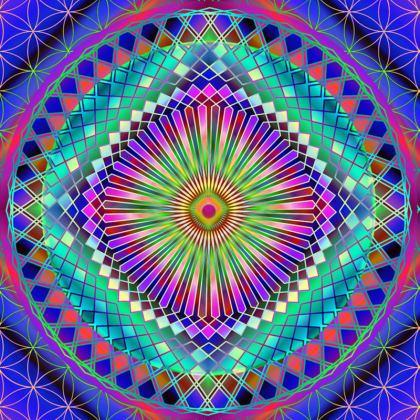 Serving Platter Sun Mandala