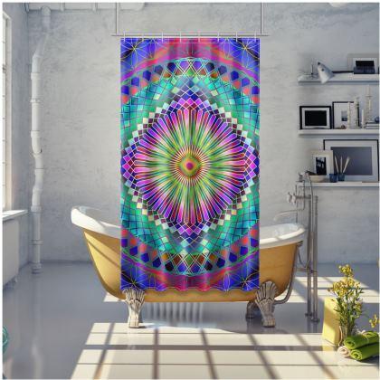 Shower Curtain Sun Mandala