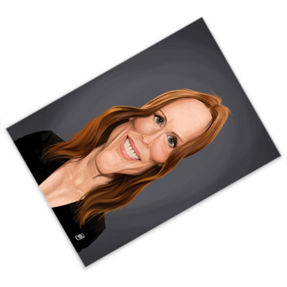 Julianne Moore Celebrity Caricature Postcard