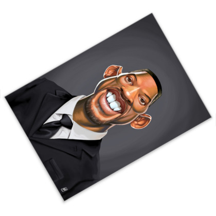 Will Smith Celebrity Caricature Postcard