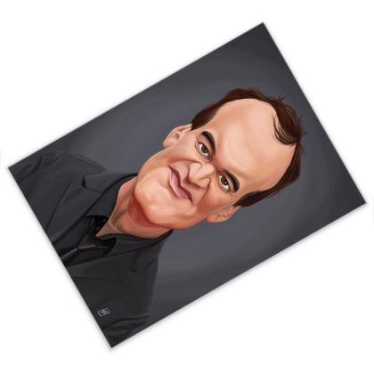 Quentin Tarantino Celebrity Caricature Postcard