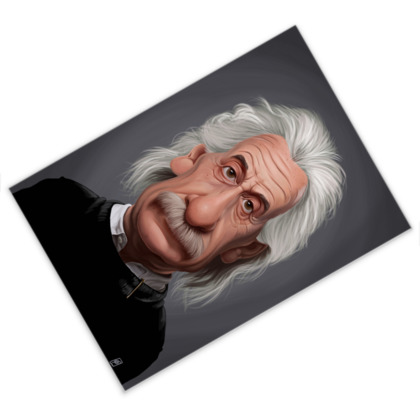 Albert Einstein Celebrity Caricature Postcard