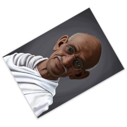 Mahatma Gandhi Celebrity Caricature Postcard