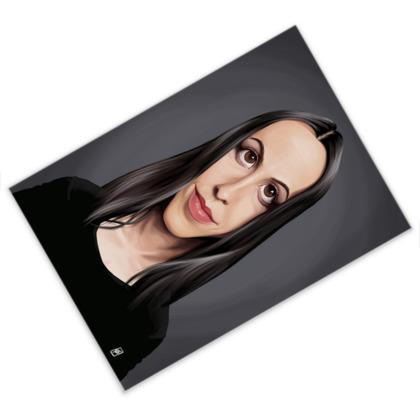 Alanis Morissette Celebrity Caricature Postcard