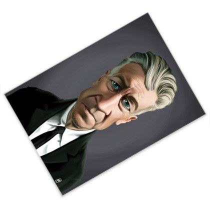 David Lynch Celebrity Caricature Postcard