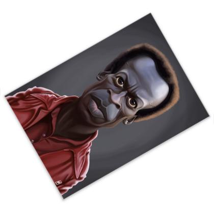 Miles Davis Celebrity Caricature Postcard