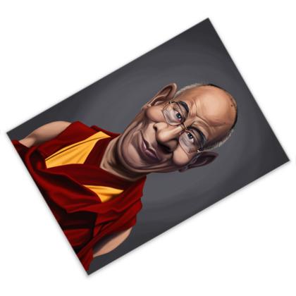 Dalai Lama Celebrity Caricature Postcard