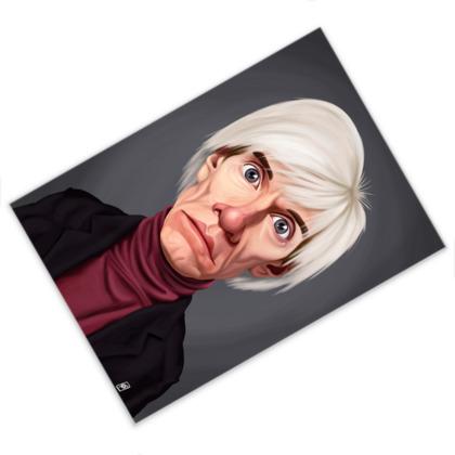 Andy Warhol Celebrity Caricature Postcard
