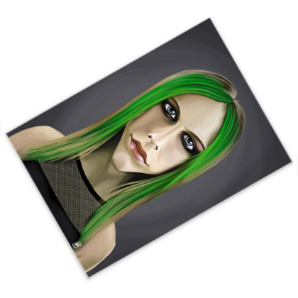 Avril Lavigne Celebrity Caricature Postcard