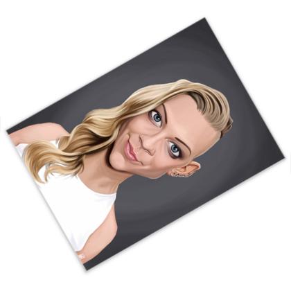 Natalie Dormer Celebrity Caricature Postcard