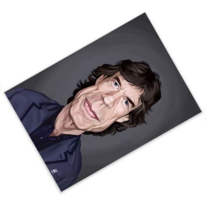 Mick Jagger Celebrity Caricature Postcard