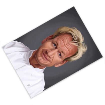 Gordon Ramsey Celebrity Caricature Postcard