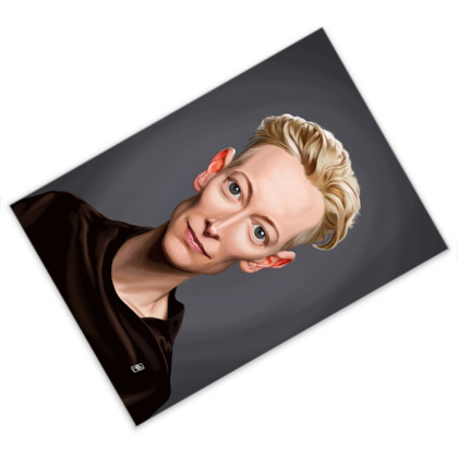 Tilda Swinton Celebrity Caricature Postcard