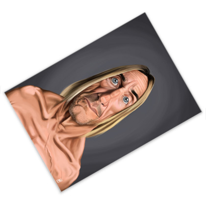 Iggy Pop Celebrity Caricature Postcard