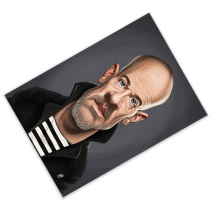 Michael Stipe Celebrity Caricature Postcard