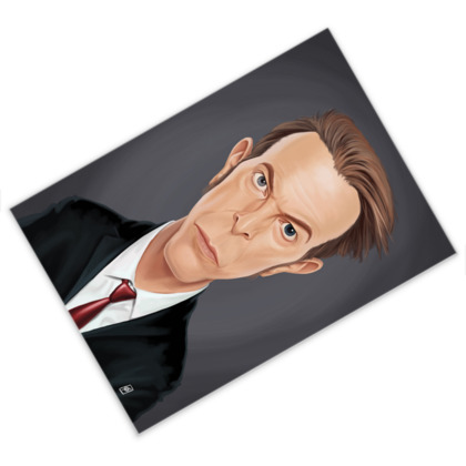 David Bowie Celebrity Caricature Postcard