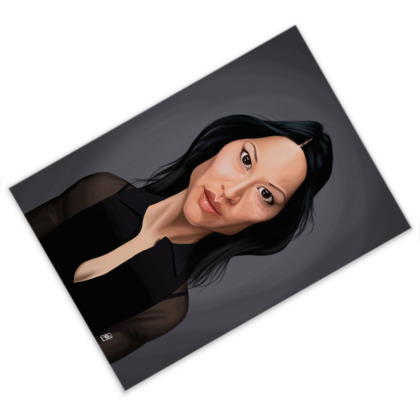 Lucy Liu Celebrity Caricature Postcard