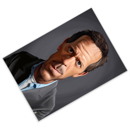Hugh Laurie Celebrity Caricature Postcard