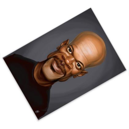Samuel L Jackson Celebrity Caricature Postcard