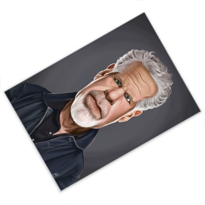 Ron Perlman Celebrity Caricature Postcard