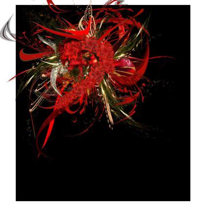Skater Dress - Skater klänning - Christmas Mismatch Black