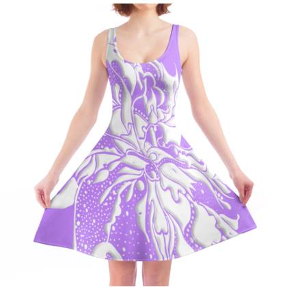 Skater dress - Skater klänning - White Ink pale Lila