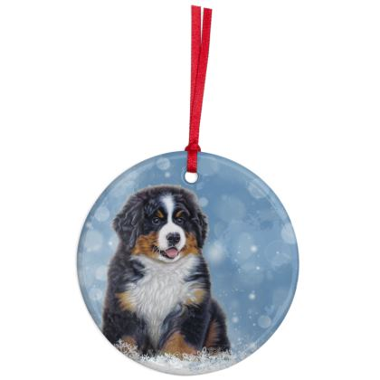 Bernese Christmas Ornament - Puppy Decoration