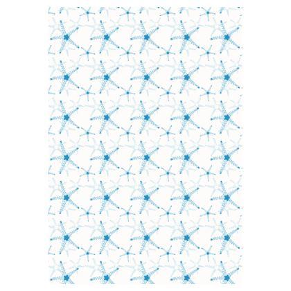 Sea Stars In Aqua Blue Double Deckchair