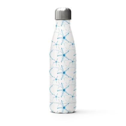 Sea Stars in Aqua Blue Stainless Steel Thermal Bottle