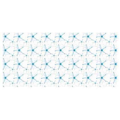 Sea Stars In Aqua Blue Folding Stool Chair