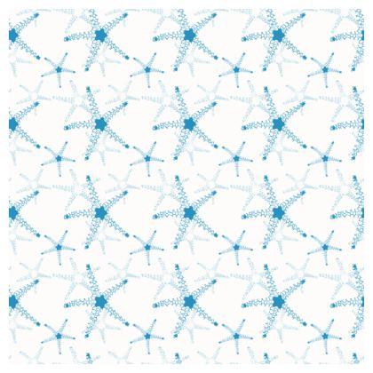 Sea Stars In Aqua Blue Coasters