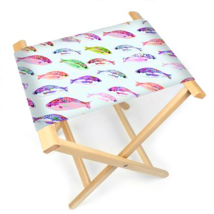 Tropical Fish Collection Folding Stool Chair