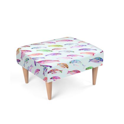 Tropical Fish Collection Footstool