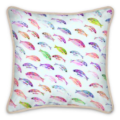 Tropical Fish Collection Silk Cushions