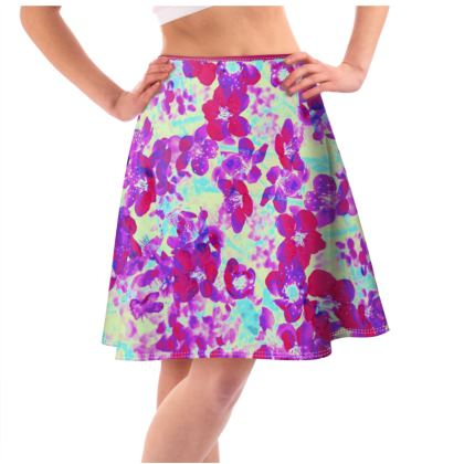 Flared Skirt Spring Flowers