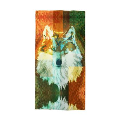 Mexican Grey Wolf Neck Tube Scarf
