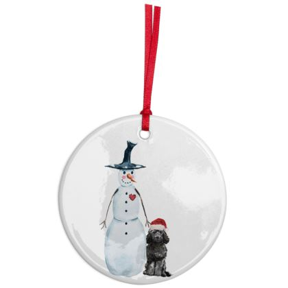 Ceramic christmas Doodle bauble (choice of 3 shapes)