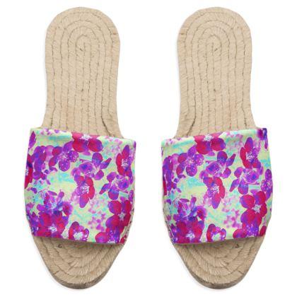 Sandal Espadrilles Spring Flowers