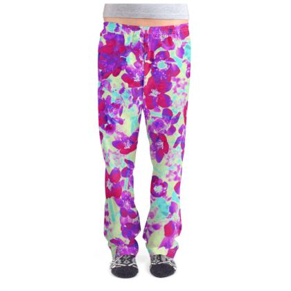 Ladies Pyjama Bottoms Spring Flowers