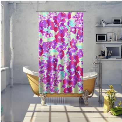 Shower Curtain Spring Flowers