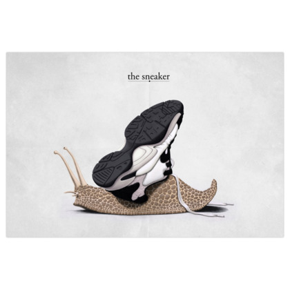 The Sneaker ~ Title Animal Behaviour Art Print