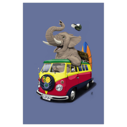 Pack the Trunk ~ Colour Animal Behaviour Art Print