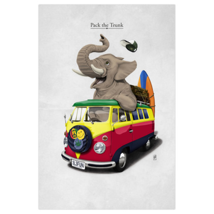 Pack the Trunk ~ Title Animal Behaviour Art Print